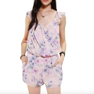 Lucca Couture Floral Chiffon Romper